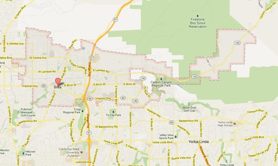 Brea California Real Estate And Community Info Jim Chamberlain - Where is brea california on the california map