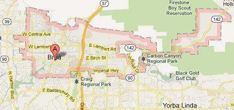 Brea California - Where is brea california on the california map